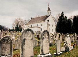 In The Churchyard On A Gray Day by peterpulp
