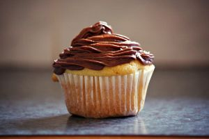 Choc fudge-iced cupcake by yluj