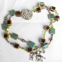 The Wedding Elephants necklace by Entophile