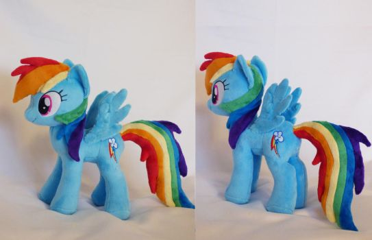 Rainbow Dash small plushie by Epicrainbowcrafts