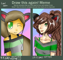 Kitty Girl! - Draw this again meme by xYazzieex