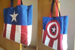 Tote bag insipred in Captain America by Ilwen
