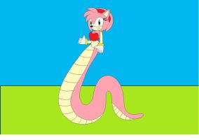amy rose the snake queen by amyrosefan17