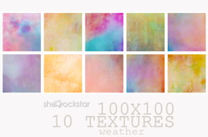 10 Textures: Weather, 100x100 by she-rockstar