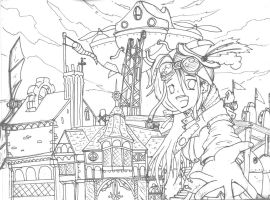lineart steampunk contest by shugo-89