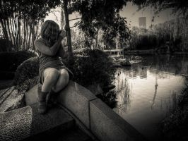 Chinese Gardens BW 4 by Wretched-Existence