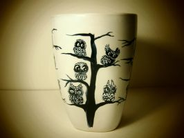 Early Holiday Sale! - Now $10 regular $28! Owl Mug by InkyDreamz