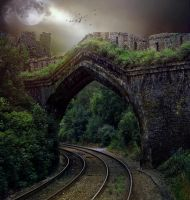 PREMIUM background - Stone Bridge Dark by Heavenia