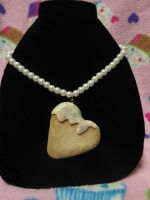 FOR SALE Heart Cookie Pearl Necklace by Ringo-Chu