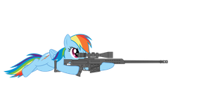 rainbowdash with Barret 98B by KebZone