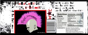 HARDCORE X-TREME label by depplosion