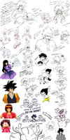 long time no see DB doodle dump by WootI-EAT-BABIES