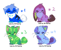 Chibi canine adoptables :OPEN: by LizzysAdopts