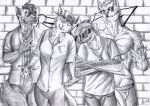 Furry rapper group - BW by FuriarossaAndMimma