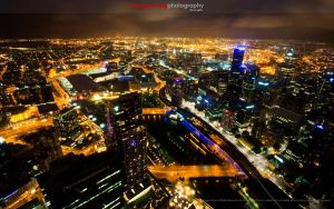 City of Lights, Melbourne by keegsmeister