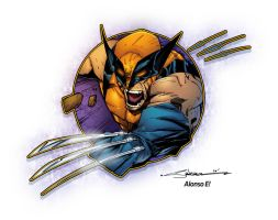 Wolverine slash circle by AlonsoEspinoza