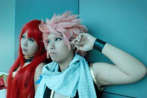 Natsu and Erza by Echow88