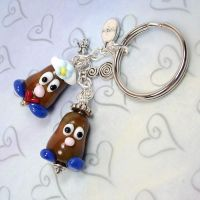 Mr and Mrs P Tater Key Chain by GlasstasticTreasures