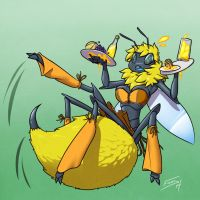 Bumbling barmaid by FicusArt