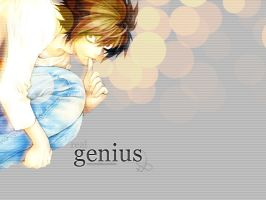 real genius - L wallpaper by kinga-ziel