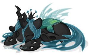 Sleepy Chrysalis by Key-FeathersMLP