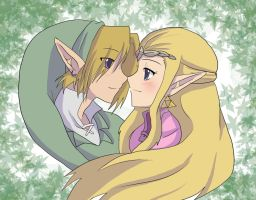 Zelda and Link by AngelofHapiness