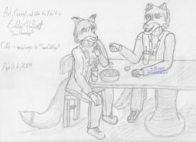 Art Trade: Eddie and Odd by SonicHomeboy
