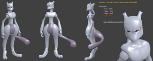 MewTwo (Low poly version) by Snowconesolid