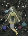 Floating Satellite Girl by bethywilliams