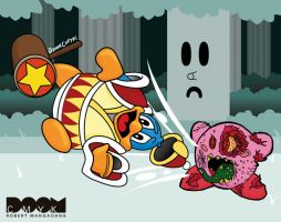 Full Zombie Kirby drawing by DoomCMYK