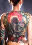 Adam Natonio: Lord Ganesh Back Piece by StandingArtTattoos