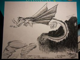 Smaug with charchole by Chayton-Sark