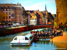 Strasbourg Flyboat - Soft Tiltshift Effect by Cloudwhisperer67