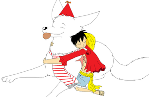 Luffy and the Birthday Boy by XfangheartX