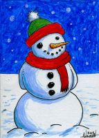 Snowman Christmas Card by Fellhauer