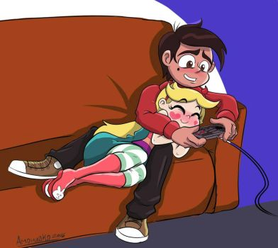 SVTFOE - Playing Nintendo on the couch.  by byLisboa