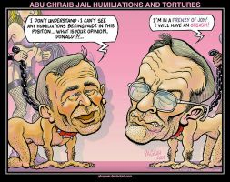 ABU GHRAIB JAIL HUMILIATIONS by glogauer