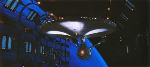 The Enterprise in drydock by Robby-Robert