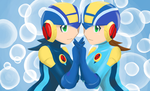 Megaman NT Warrior Sisters by CrimsonFoxglove