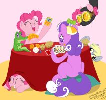 Request: Pinkie and Screwball poker game by GonzaHerMeg