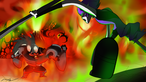 Red Rage And Green Envy by oracle-ryuu