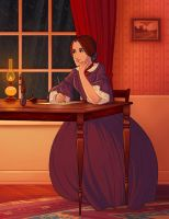 Charlotte Bronte by tamiart