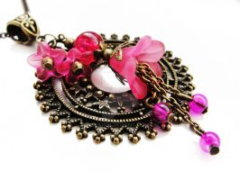 FOR SALE Necklace - Pink Circle by Benia1991