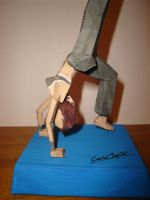 Lara Gym Papercraft  - base by KarenGE