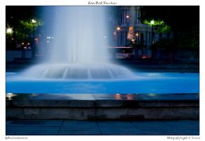 Love Park Fountain by yellowcaseartist