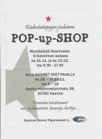 Pop-up-Shop and Opendoors Flyer by Twilightberry