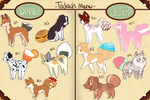 [OPEN] - REDUCED!! HUGE Dumpling Adopts sheet #2 by Sno-berry