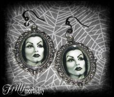 Vampira Earrings by FrillsandMorbidity