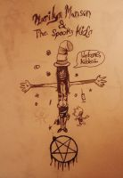 Marilyn Manson and the Spooky Kids doodle by zombis-cannibal