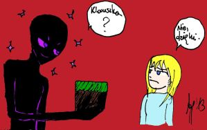 Minecraft story: Enderman (color) by Adula11